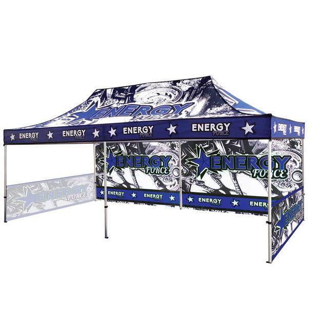 20FT Canopy UV Outdoor Tent Frame+Top+2 half Sidewall Singleside+Backwall Singleside