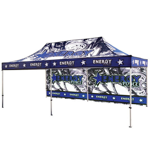 20FT Canopy UV Outdoor Tent Frame+Top+Backwall Singleside