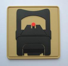 SUAREZ RED DOT ORIGINAL PVC PATCH - FDE (VELCRO BACK)