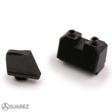 SUAREZ FULL COWITNESS HEIGHT BLACK FRONT AND REAR SIGHTS - FOR GLOCK -
