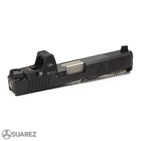 SUAREZ SUPERMATCH SI-319 RMR SLIDE (FOR GEN 3 G19) - BLACK