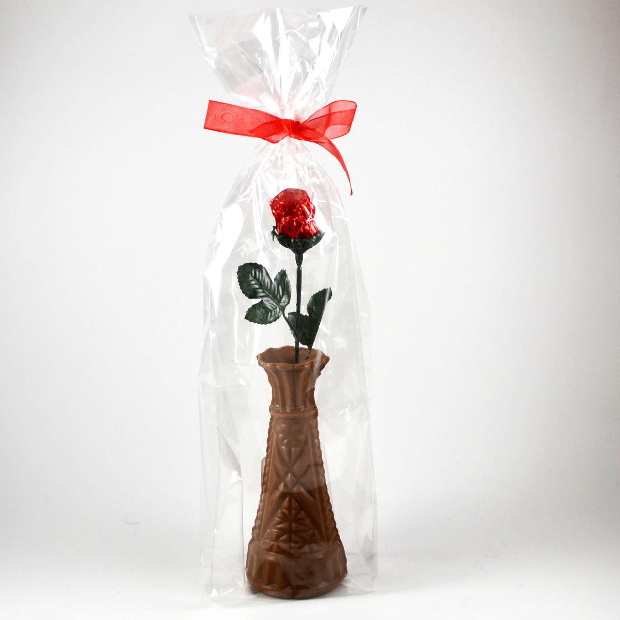 Chocolate Vase & Rose