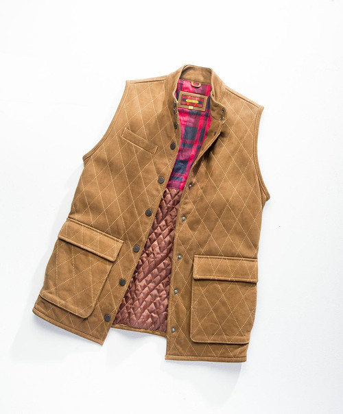 Exventurer Buffalo Nubuck Vest - Brown - 30% OFF