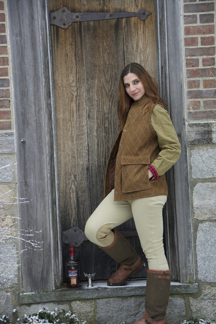 Women's Exventurer Nubuck Buffalo Vest - Brown - 30% OFF
