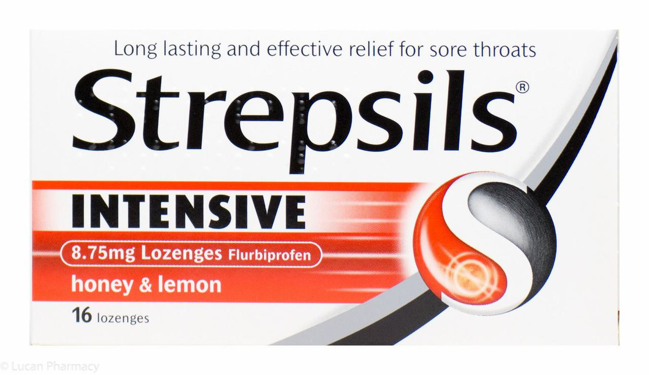 Strepsils® Intensive Lozenges Honey & Lemon Flavour - 16 Lozenges #P
