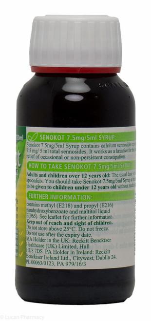 Senokot 75mg5ml Syrup 150ml P Lucan Village Pharmacy