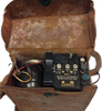 WWII Signal Corps US Army Telephone EE-8-A Field Phone with Leather Case