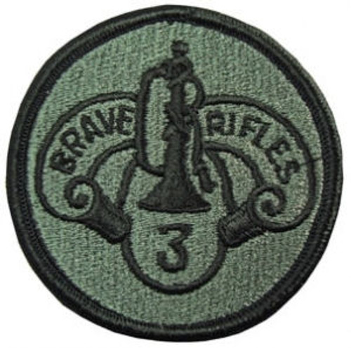 3rd ACR (Armored Cavalry Regiment)  Subdued OD Patch