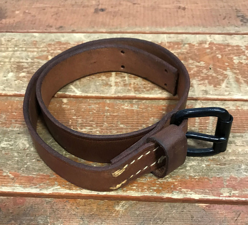 Leather Strap with Black Buckle
