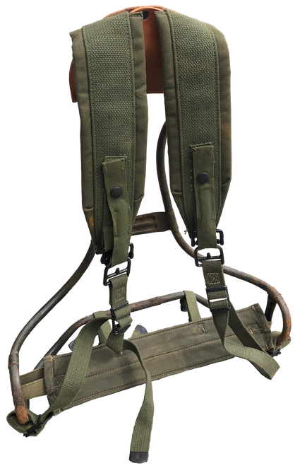 Vintage Military Rucksack frame with straps and belt