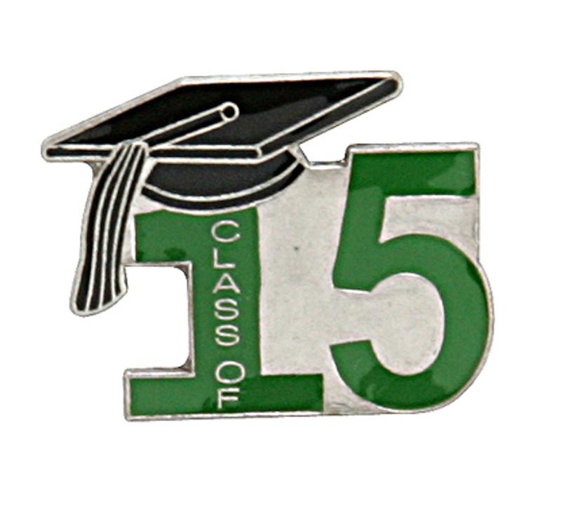 Class of 15' Green Lapel Pin