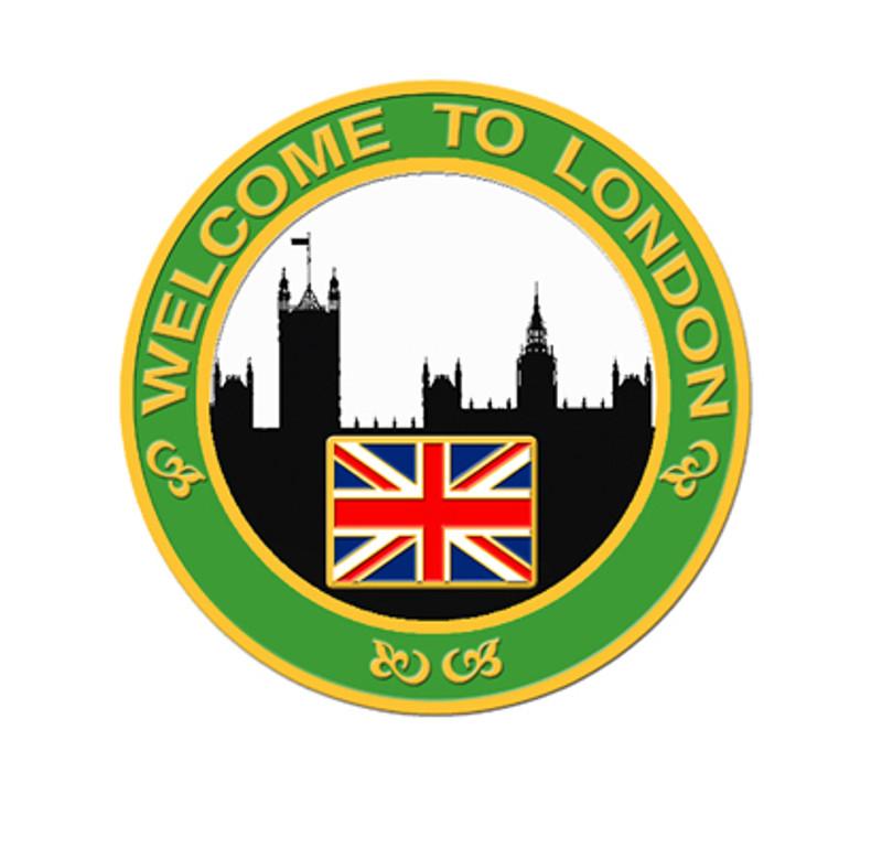 2012 London Skyline Lapel Pin - Green