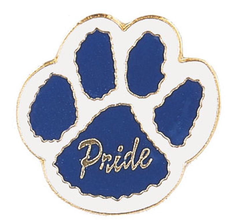 Paw Print - Pride (blue/white) Lapel Pin