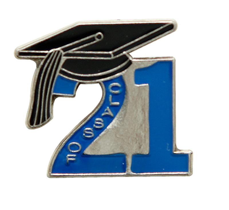 Class of '21 Blue (Nickel Plate)