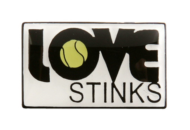 Love Stinks Tennis Lapel Pin