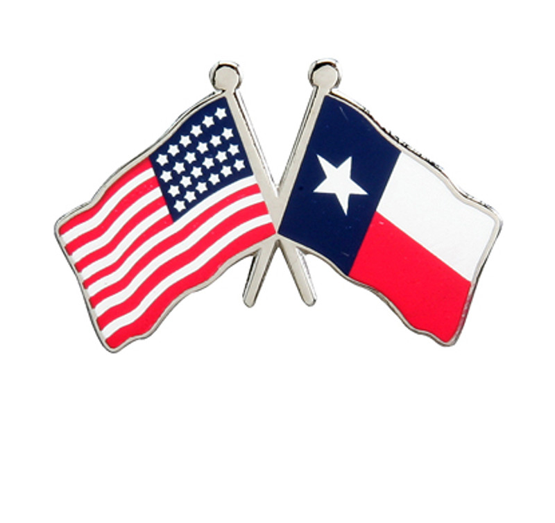 Flag Combo USA-Texas Lapel Pin