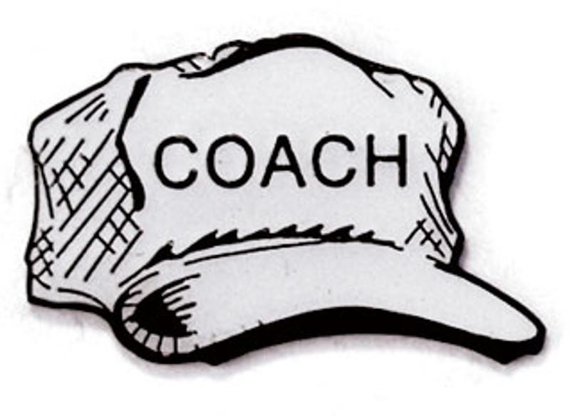 Coach Cap Lapel Pin