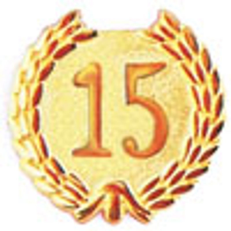 YEARS OF SERVICE 15 LAPEL PIN