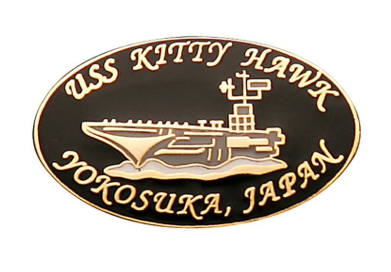 USS Kitty Hawk Yokosuka, Japan Oval Lapel Pin