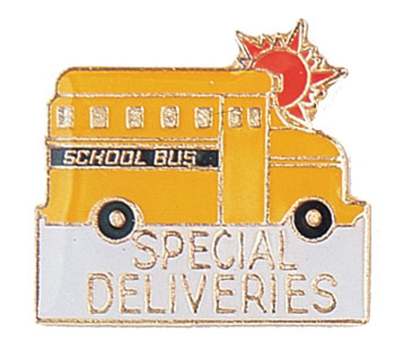 School Bus Special Deliveries Lapel Pin