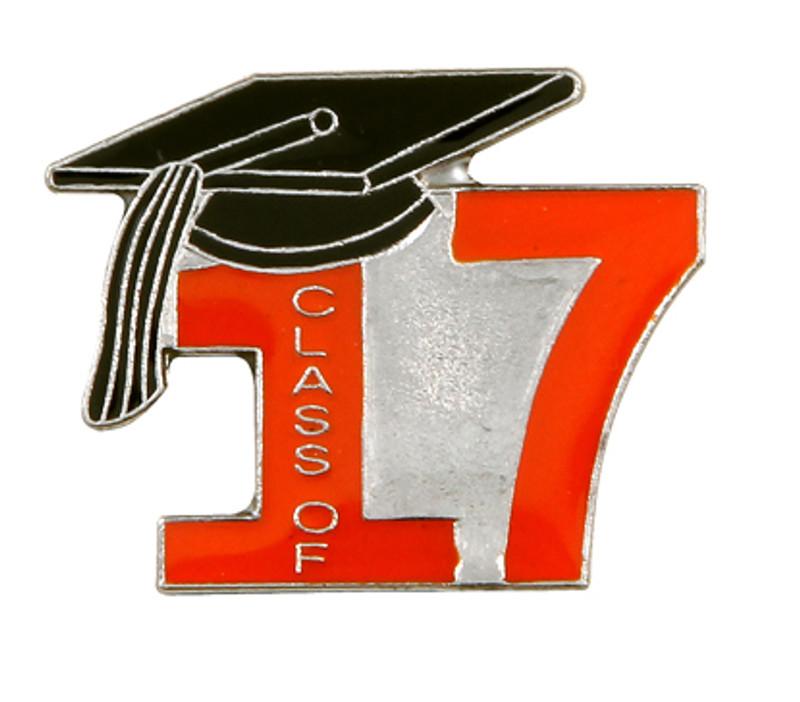 Class of 17' Orange Lapel Pin