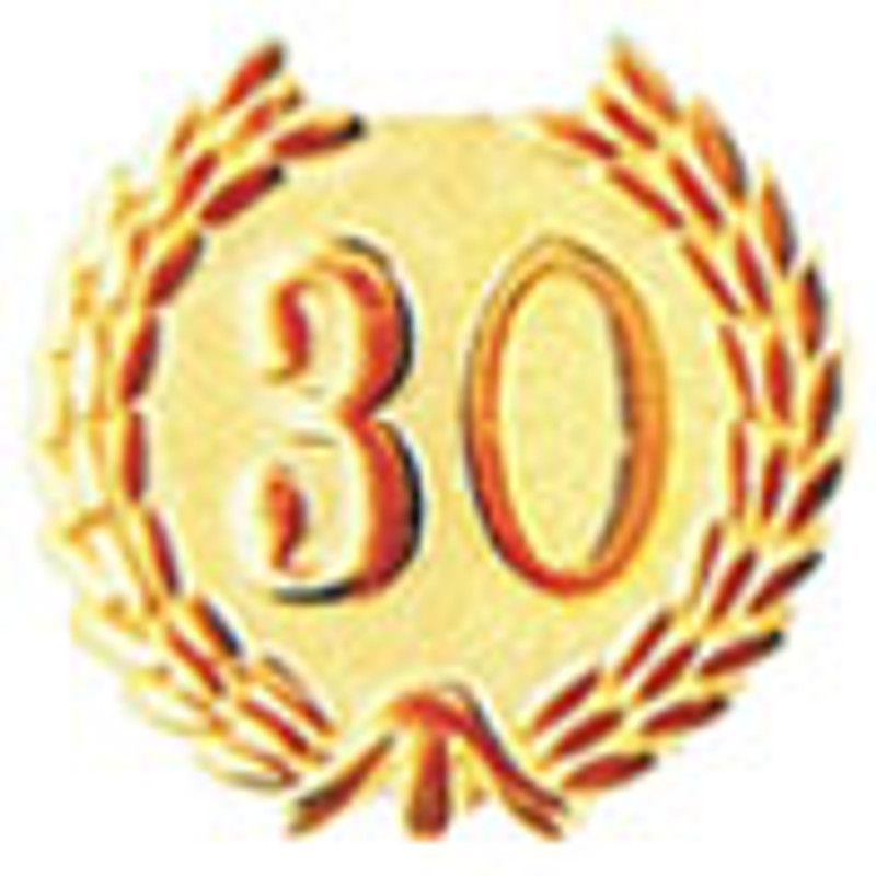 YEARS OF SERVICE 30 LAPEL PIN