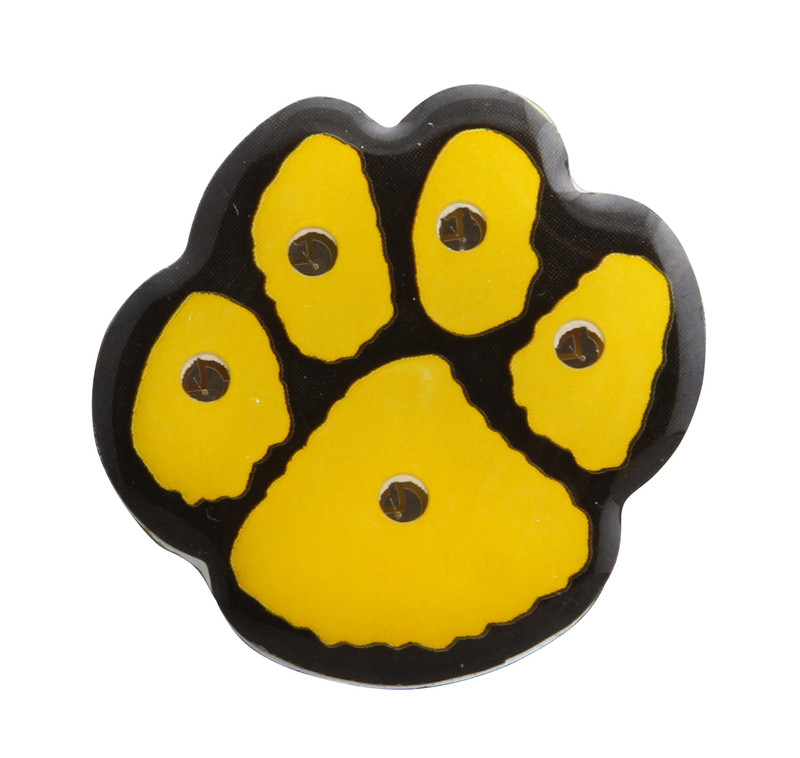 "PAW-LIGHT 1"" (Yellow/Black) Lapel Pin"