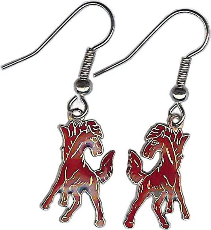 Mustang Earrings, Burgundy