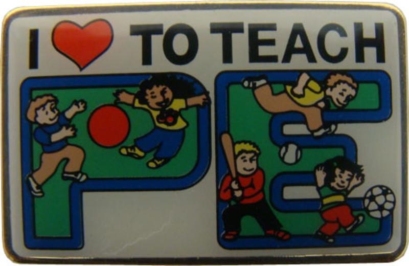 I (heart) To Teach PE Lapel Pin
