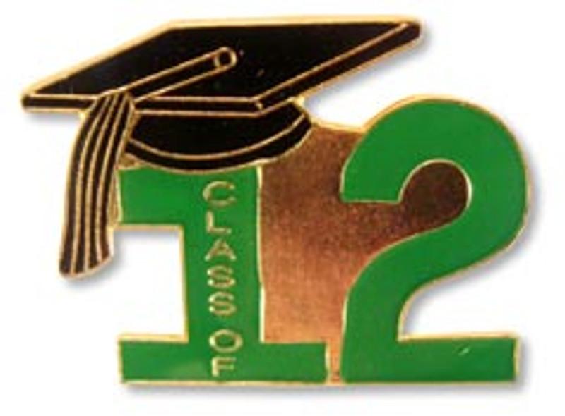 Class of 12' Green Lapel Pins