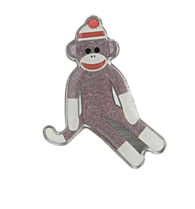 Sock Monkey Lapel Pin