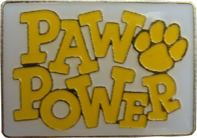 Paw Power (Yellow) Lapel Pin