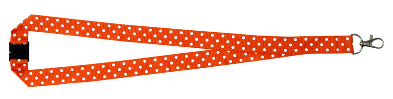 Polka Dot Print Lanyard - Orange
