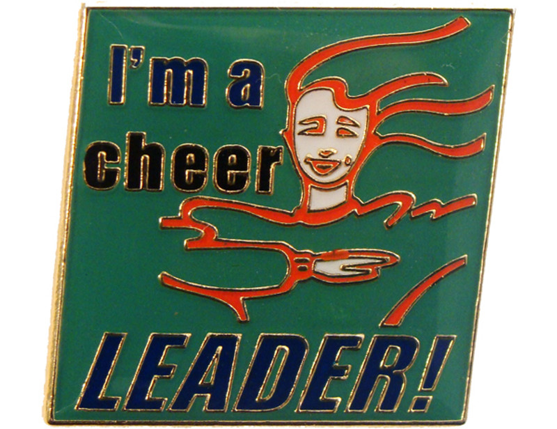 I'm a cheer LEADER! Lapel Pin