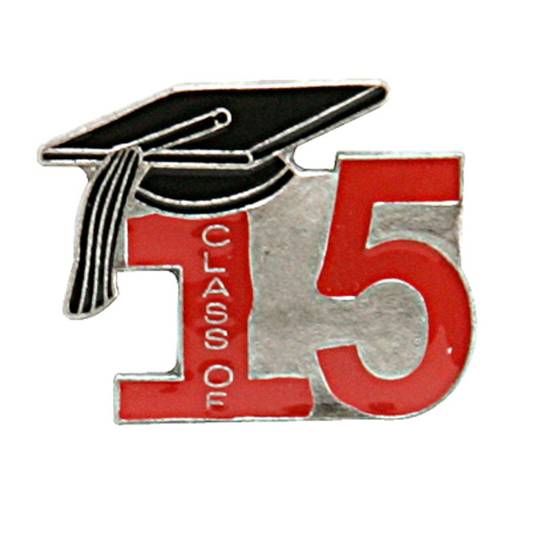 Class of 15' Red Lapel Pin