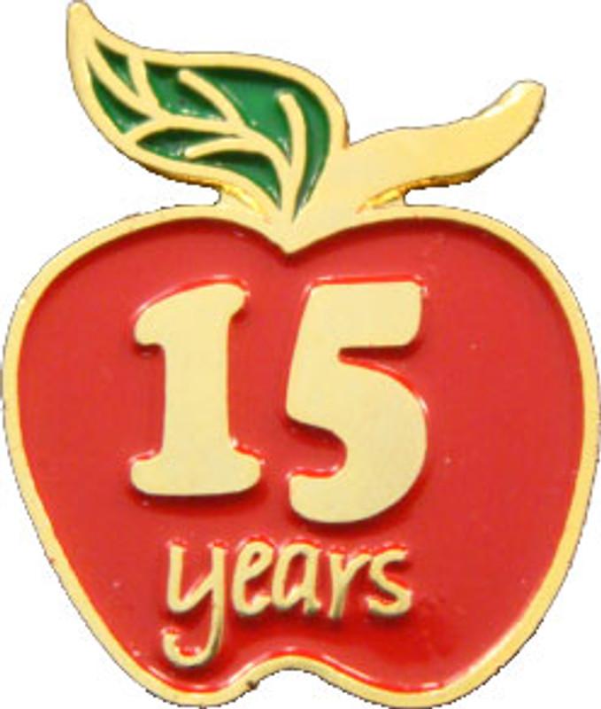YOS 15 Apple Lapel Pin