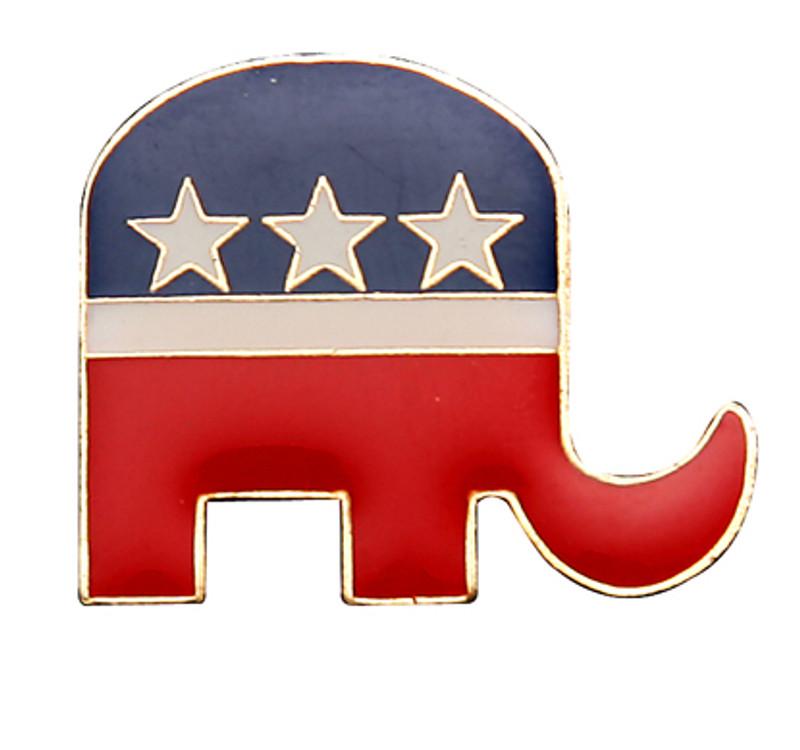 Republican Elephant Lapel Pin