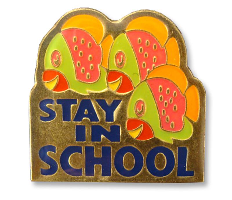 Stay In School Lapel Pin