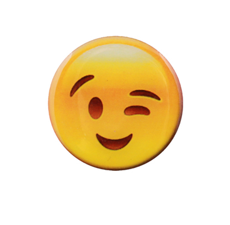 Smile with Wink Emoji Lapel Pin
