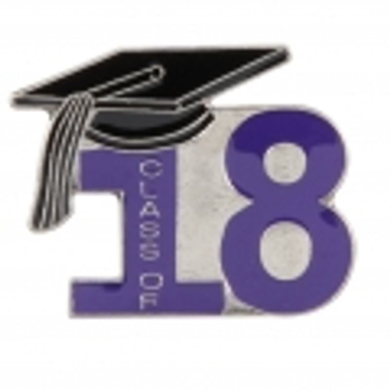 Class of 18' Purple Lapel Pin
