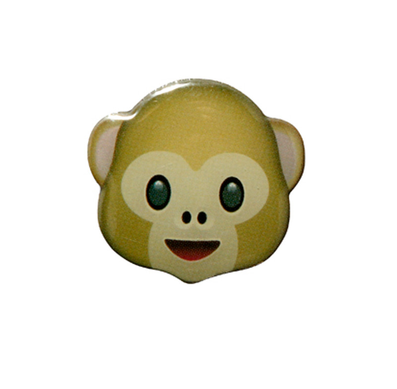 Monkey Emoji Lapel Pin
