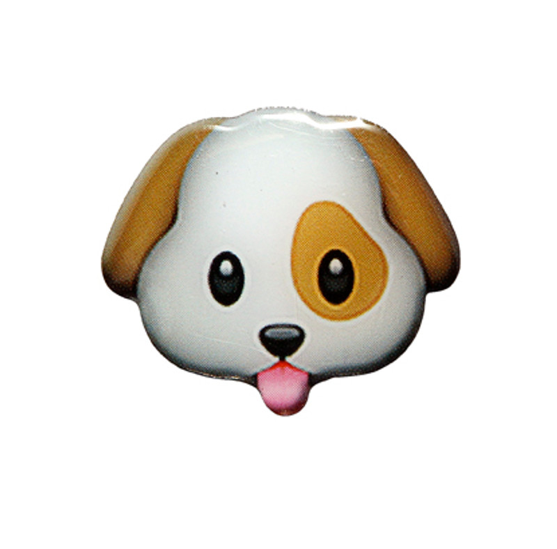 Puppy Emoji Lapel Pin