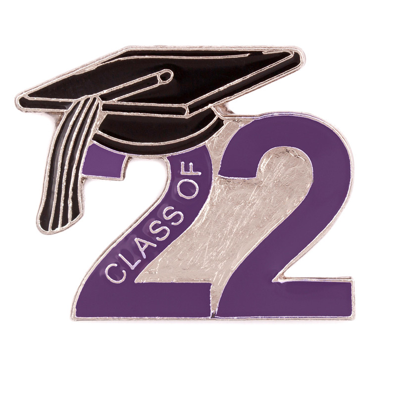 Class of 2022 Purple Lapel Pin