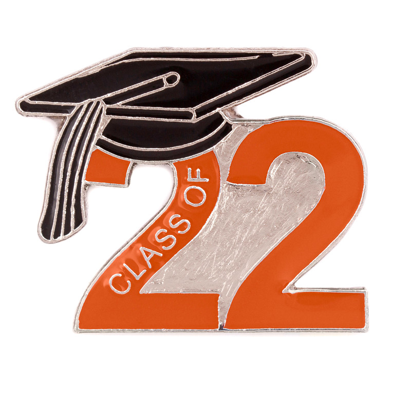 Class of 2022 Orange Lapel Pin