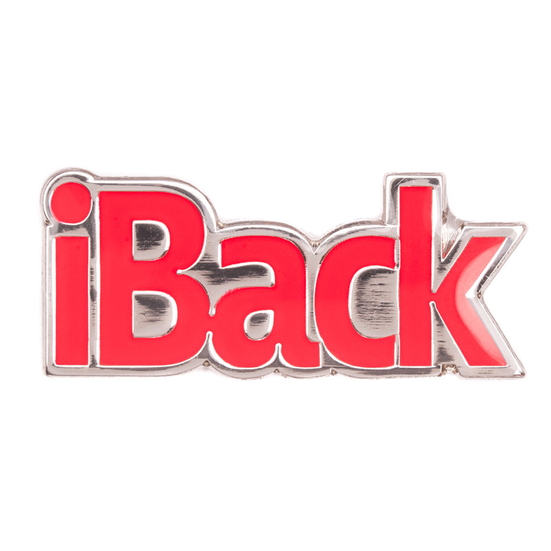 iBack (Red) Lapel Pin