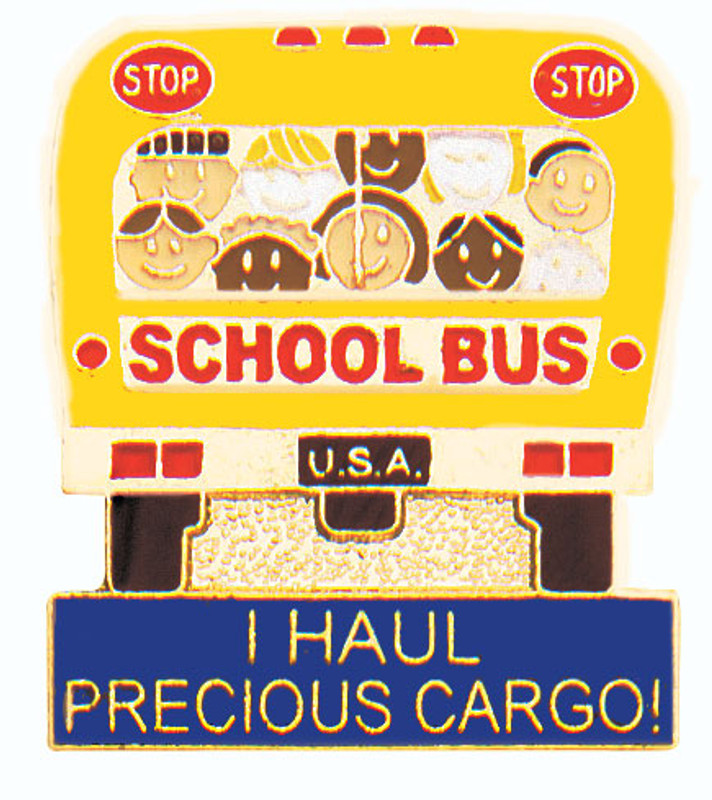 I Haul Precious Cargo Bus Lapel Pin