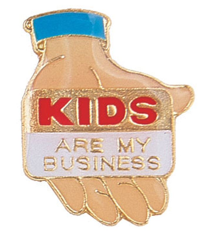 Kids Are My Business Lapel Pin