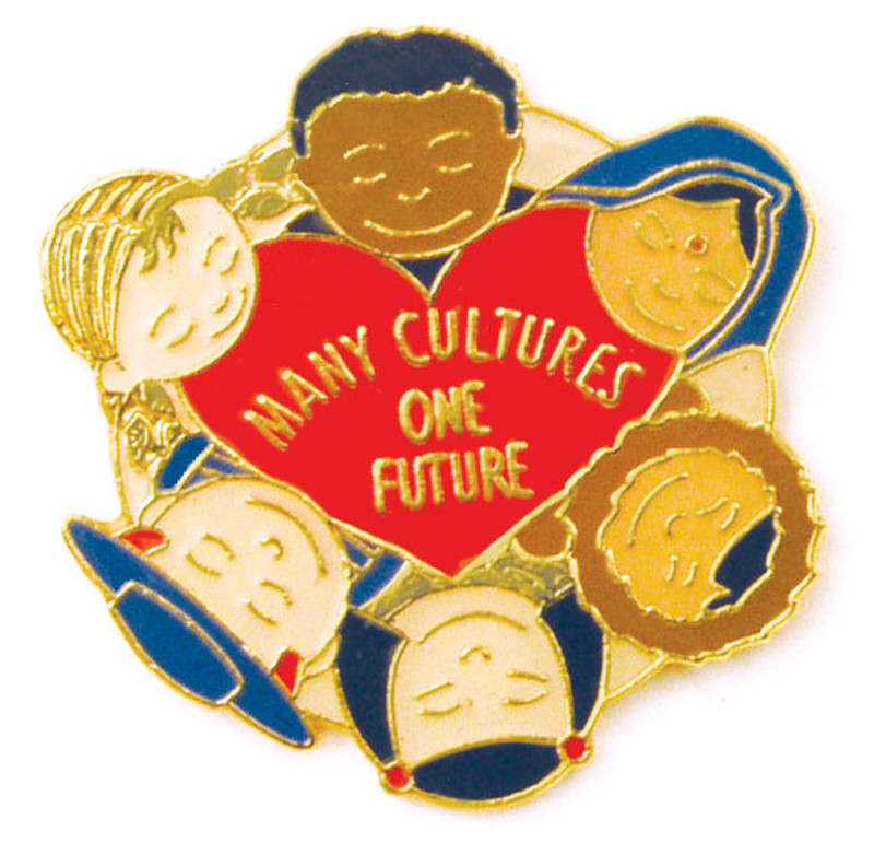Many Cultures One Future Lapel Pin