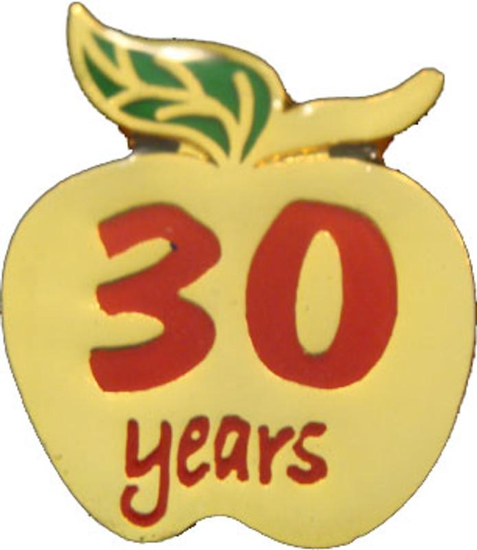 YOS 30 Apple Lapel Pin