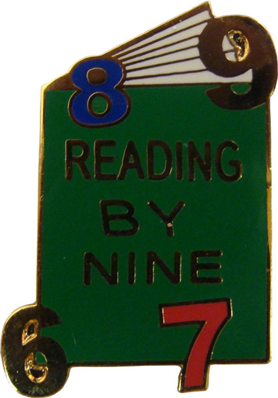Reading by Nine lapel Pin